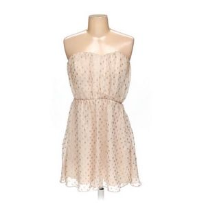 Anthropologie Ark & Co Blush and Gold Dress